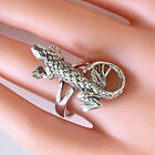 Woman's Solid 925 Sterling Silver Lizard Ring 7.5 Grams 29MM x 16MM Size 6,7,8,9