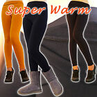 Thick Fleece Lined Full-Length Warm Leggings Ultra Stretch Pants Women SOLID