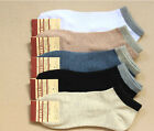 Mens UNISEX NWT Cotton No-Show SOCKS sport socks 5pr White black blue Gray 33-43