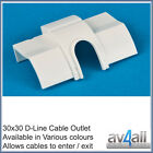 D-Line 30x30 Quadrant Cable Outlet to hide tv wires along Skirting Board