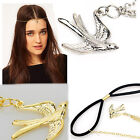 Gold/Silver Tone Ladys Swallow Bird Pendant Party Headband Hair Band Accessory