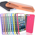 For Apple Iphone 5 0.3mm Ultra Thin Slim Frosted Crystal Clear Phone Case Cover