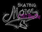 MOM Banner Tail - Skating - Rhinestone Iron on Transfer Hot Fix Bling Sports