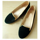 US5-8 suede Leather round toe Slipper comfy loafer Shoes women flat ballet shoes