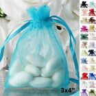 100 pcs 3x4 inch ORGANZA BAGS - Wedding FAVORS Drawstring Gift Pouch Packaging