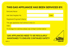 Gas Safe This has been serviced by Labels