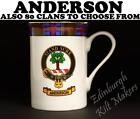 ANDERSON CLAN MUG TARTAN MUG AVAILABLE IN 80 CLAN NAME FINE BONE CHINA MUG