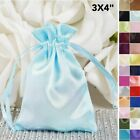 120 pcs 3x3.5 inch SATIN FAVOR BAGS - Wedding Drawstring Gift Pouches Packaging