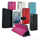 NEW LEATHER SLIM EXECUTIVE POCKET / CASE / POUCH / SKIN FOR APPLE iPhone 5 5S