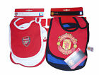 BABY BOYS 2 PACK BIBS MANCHESTER UNITED OR ARSENAL NEW