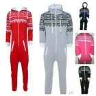 BOYS GIRLS AZTEC ALL IN ONE JUMPSUIT GREY RED BLUE PINK BLACK 7 8 9 10 11 12 13