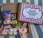 PERSONALISED RETRO SWEETS GIFT BOX BIRTHDAY WEDDING ANNIVERSARY PARTY FAVOUR - S
