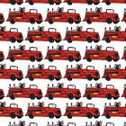 FIRE TRUCK Fabric Quilt Square Repeat Firemen Firefighter Rescue Department Kids