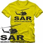 SAR SEARCH AND RESCUE  Bell UH 1 D   T-Shirt  LUFTRETTUNG  S/W Grafik DTG