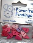 Favorite Findings HEART SHAPED button packs~Several Varieties~WOW! Super Cute!