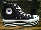 "Converse All Star Chuck Taylor Platform ""Layer Bottom"" Black Women HI Shoes NIB"