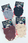 PIRATE BUSHY BEARD, 3 ASORTED COLOURS, ONE SIZE FITS MOST FANCY DRESS ACCESSORY