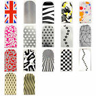 16pcs Nail Foil Nail Art Sticker Patch Nail  Wraps for Fingers & Toes 7390