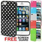 Hard Gel Silicone Polka Dot Case Cover Bumper for Apple iPhone 5 16GB 32GB 64GB