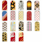 16pcs Nail Foil Nail Art Sticker Patch Nail Wraps for Fingers & Toes 331348