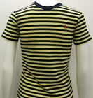 Ralph Lauren  Small Ponny Boys Kids Striped T- Shirt Top in Navy blue and yellow