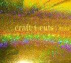 "GOLD SPARKLE VINYL 6 x 12"" USE WITH CRAFT CUTTING MACHINES EXPRESSION CARDS"