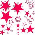 45 PURPLE VINYL STAR STICKERS CAR BEDROOM WALL ART
