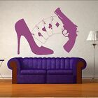 Shoes Aces Gun Poker Sexy Woman Stiletto Wall Sticker / Decor Home Art Decal R39
