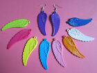 Plastic Guardian Angel Wing Large Earrings Brand New in 9 Colours! Kitsch Retro