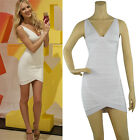 Herve Leger Style Bandage Bodycon Dress Cocktail Party Prom Dress 25# White XS-L