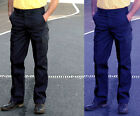 2 x Mens Combat Cargo Work Trousers Black or Navy Size 28 to 52 Short/Reg/Long