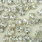 10pcs Plated Cup Loose Rhinestone beads sewing on A silver plated cup embellish