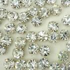 10/100pcs Plated Cup Loose Rhinestone beads sewing on A silver plated cup DIY