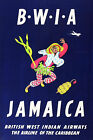 Vintage BWIA JAMAICA...Art Deco Travel Poster A1A2A3A4Sizes