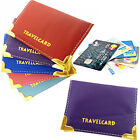Travel Card Cover Oyster Holder Pocket Credit Rail Protect Organizer Carrier New