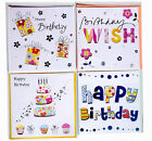 Luxury Birthday Cards For Celebrations & Occasions Pack Of 4 Cards