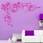 LARGE Butterfly Vine Flower Wall Sticker Removable Home Mural Art Vinyl Decal T7