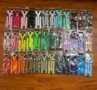 Внешний вид - 40 Colors Sexy Men Women Clip-on 1xSuspenders Elastic Y-Shape Adjustable Brace