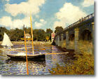 HUGE Monet Highway Bridge at Argenteuil Stretched Canvas Giclee Repro ALL SIZES