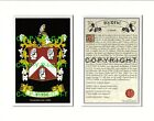 BUSH to CANNON Family Coat of Arms Crest + History - Mount or Framed