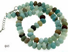 "Knotted Rondelle 8mm Amazon   Necklace 18"" 32"" 48"" Gemstone Beads Single"