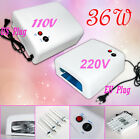 Pro. 36W US 110V 220V Nail Art UV Lamp 4 X 9W Salon Gel Curing Tube Light Dryer
