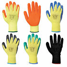 12 Pairs of Latex Rubber Work Glove Safety Grip Gardening Builder Portwest A150
