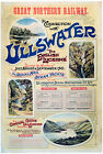ULLSWATER Northern Railway Vintage Art Nouveau Railway Poster A1A2A3A4Sizes