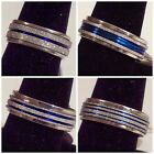 Blue & Silver - Spin Ring - Stainless Steel - Unisex - 5 Different Bands - U65