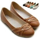 ollio Womens Ballet Flats Loafers Criss Cross Slip-on Multi Colores Shoes