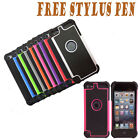 Dual Layer Silicone Gel Hard Plastic Case Cover For Apple iPod Touch 5 5th Gen