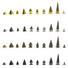 Rivet Cone Studs ScrewBack Rock Punk Spikes Spots Leather Craft DIY Bullet