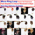 Pre Bonded Micro Ring Easy Loop Hoop 100% Real Natural Human Hair Extensions
