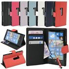 Luxury PU Leather Flip Wallet Credit Card Case Cover for Nokia Lumia 920